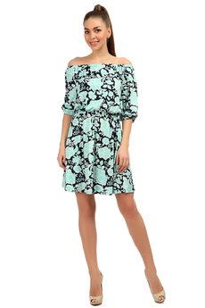 """Платье из микрофибры с вырезом """"лодочка"""" на резинке Mondigo"""