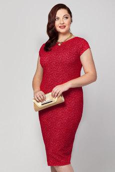 Коктельное платье с декоративной застежкой Vilatte