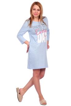Голубая сорочка с рукавом ElenaTex