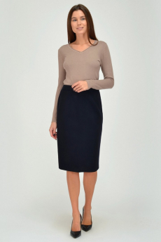 Темно-синяя трикотажная юбка Viserdi