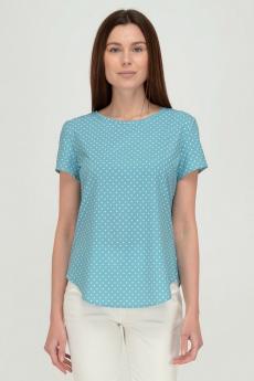 Ментоловая блузка в горошек Viserdi